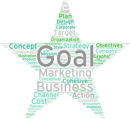 Business Goal word cloud on a white background. Stock fotó - 68296071