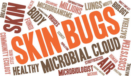 Skin Bugs word cloud on a white background. Stock Vector - 70302721