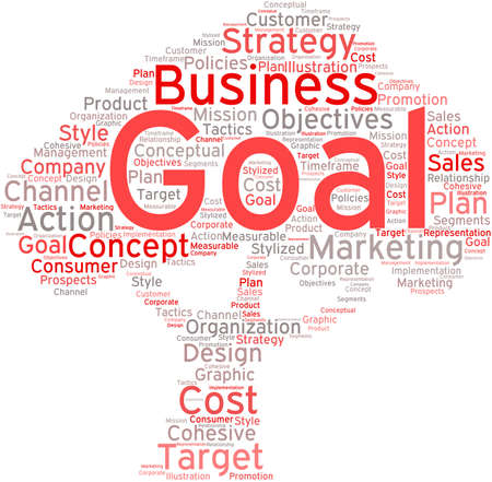 Business Goal word cloud on a white background. Stock fotó - 68296145