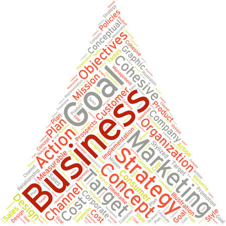 business word: Business word cloud on a white background.