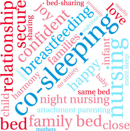 Co-Sleeping word cloud on a white background. Banco de Imagens - 68642023