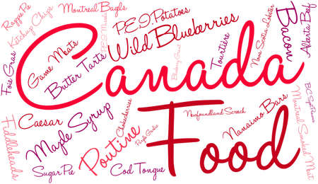 Canada Food word cloud on a white background. Stock fotó - 68642044