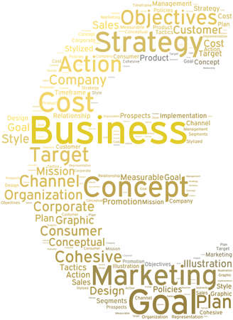 Business word cloud on a white background. Stock fotó - 68642113
