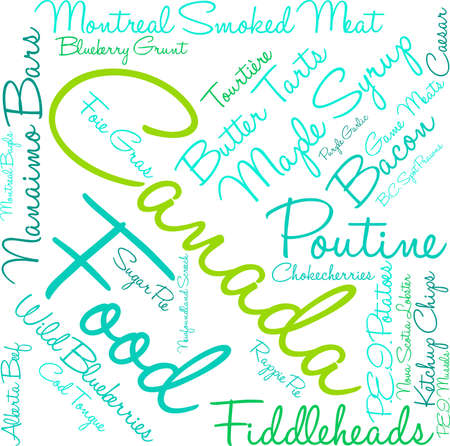 Canada Food word cloud on a white background. Stock fotó - 68642116