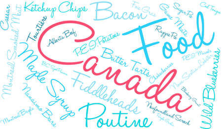 Canada Food word cloud on a white background. Stock fotó - 68642142