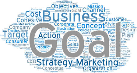 Business Goal word cloud on a white background. Stock fotó - 68642337