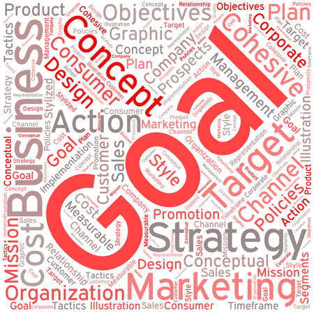 Business Goal word cloud on a white background.  イラスト・ベクター素材
