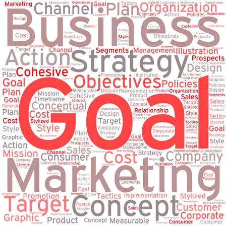 Business Goal word cloud on a white background. Stock fotó - 68816322