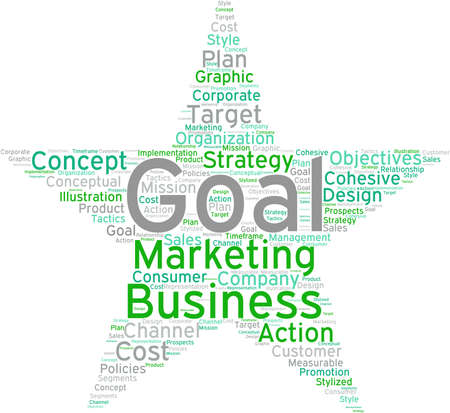 Business Goal word cloud on a white background. Stock fotó - 68816442