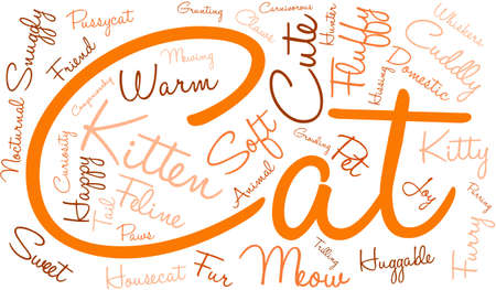 companionship: Cat word cloud on a white background. Illustration