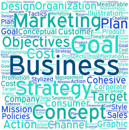 timeframe: Business word cloud on a white background.