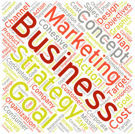 Business word cloud on a white background. Stock fotó - 68816551