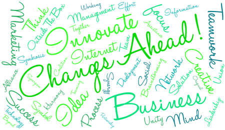 teaming: Changes Ahead word cloud on a white background.
