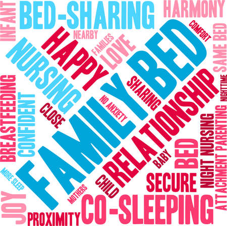 stimulation: Family Bed word cloud on a white background. Illustration