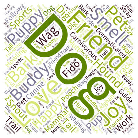 Dog word cloud on a white background. Ilustrace