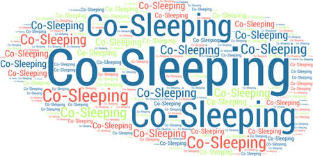 Co-Sleeping word cloud on a white background. Ilustração