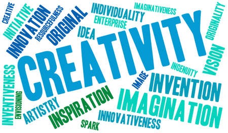 Creativity word cloud on a white background. Stock fotó - 69074646
