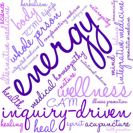 underlying: Energy word cloud on a white background. Illustration