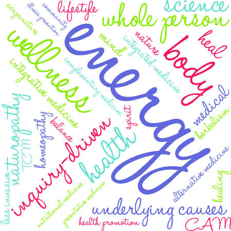 Energy word cloud on a white background. Illustration