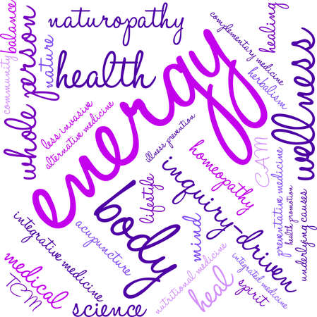 Energy word cloud on a white background. 일러스트