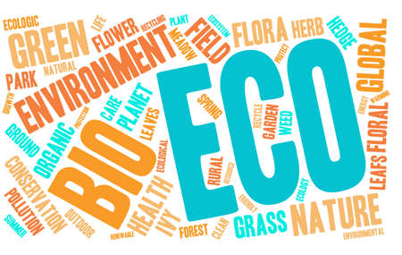 Eco word cloud on a white background.