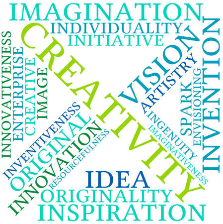 Creativity word cloud on a white background. Stock fotó - 69250430