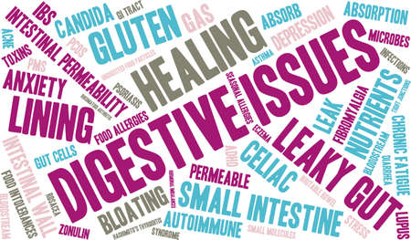 bloodstream: Digestive Issues word cloud on a white background.