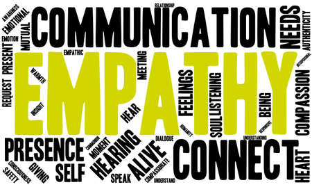 Empathy word cloud on a white background. Vetores