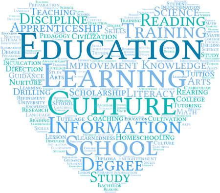 Educación nube de palabras sobre un fondo blanco. Foto de archivo - 69250530