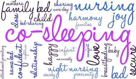Co-Sleeping word cloud on a white background. Banco de Imagens - 69250576
