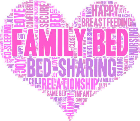 ap: Family Bed word cloud on a white background. Illustration