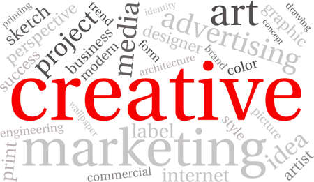 imaginativeness: Creative word cloud on a white background.