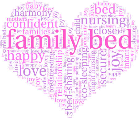 Family Bed word cloud on a white background. Ilustração