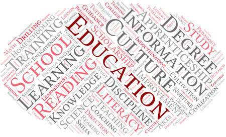 Educación nube de palabras sobre un fondo blanco. Foto de archivo - 69250675