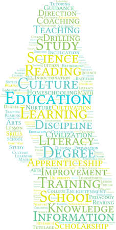 apprenticeship: Education word cloud on a white background.