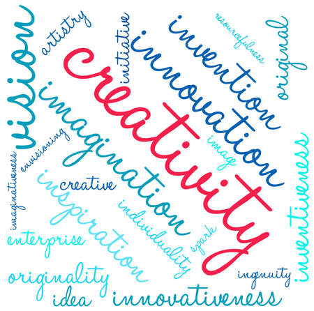 Creativity word cloud on a white background. Stock fotó - 69250681
