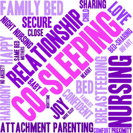 ap: Co-Sleeping word cloud on a white background. Illustration