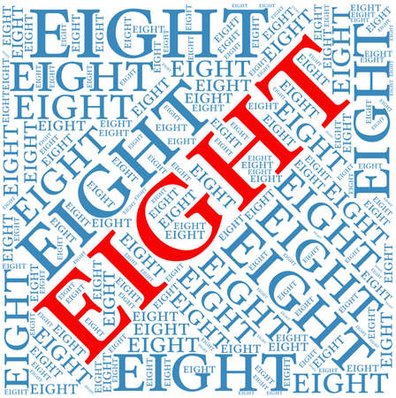 integer: Eight word cloud on a white background.