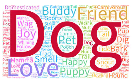 Dog word cloud on a white background. 矢量图像