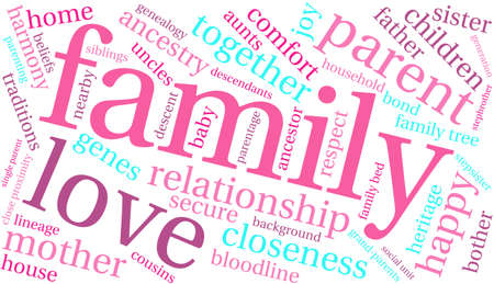 baby grand: Family word cloud on a white background.