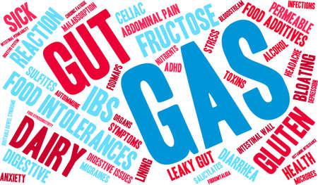 autoimmune: Gas word cloud on a white background.