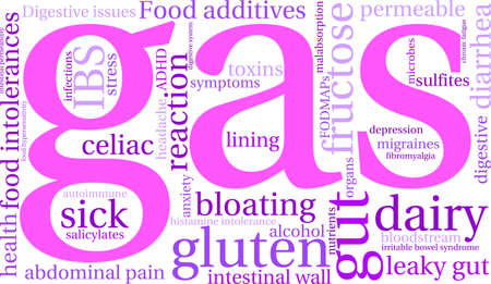 hypersensitivity: Gas word cloud on a white background.
