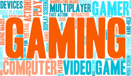 username: Gaming word cloud on a white background. Illustration