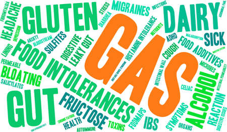 Gas word cloud on a white background.