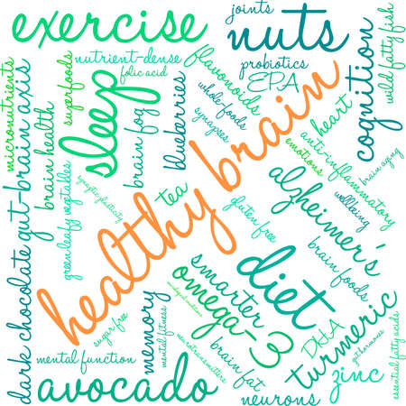Health word cloud on a white background.