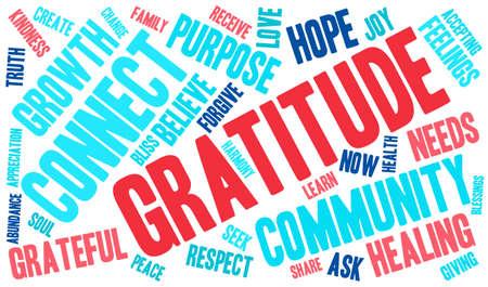 Gratitude word cloud on a white background. Reklamní fotografie - 70320854