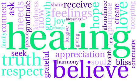 Healing-Wort-Wolke Standard-Bild - 70320910
