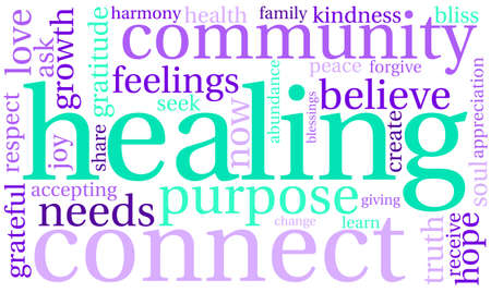 healing: Healing Word Cloud