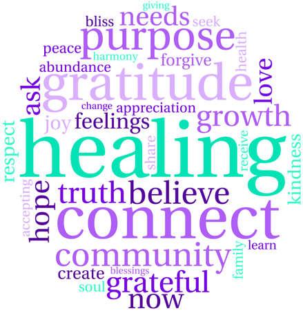 enlightenment: Healing Word Cloud