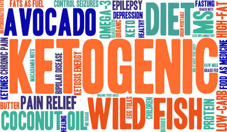 Ketogenic word cloud on a white background.